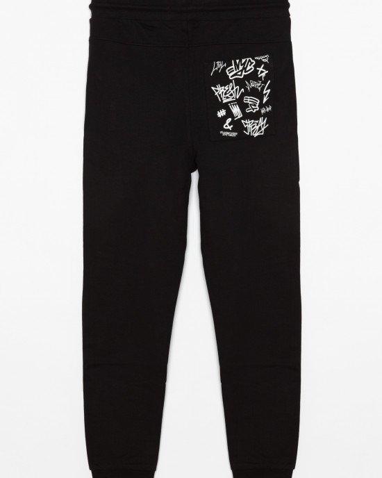 Штаны черного цвета с карманом
