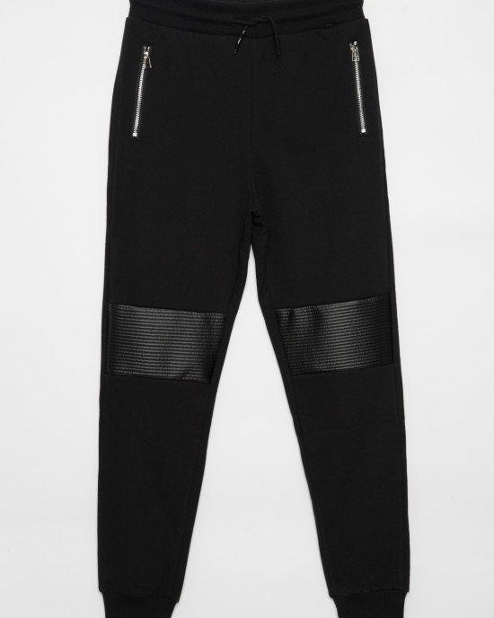 Штаны спортивные с рифлеными вставками на коленях