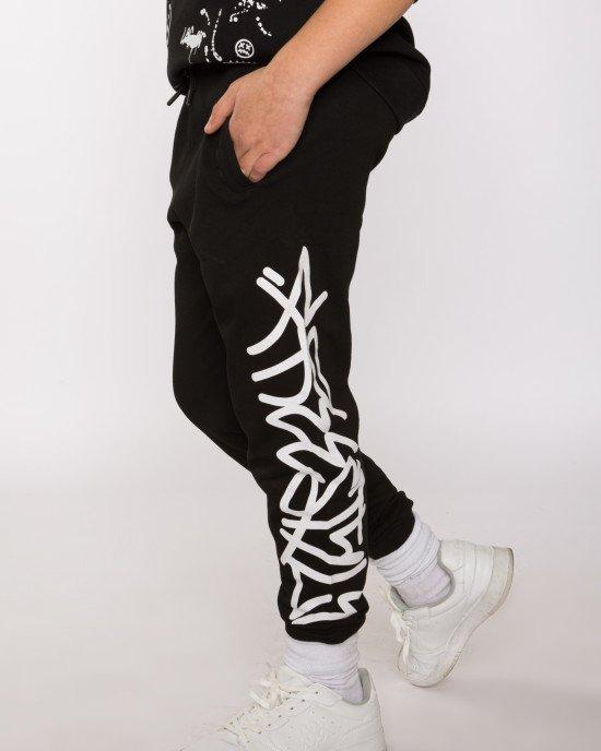 Штаны спортивные черного цвета утепленные