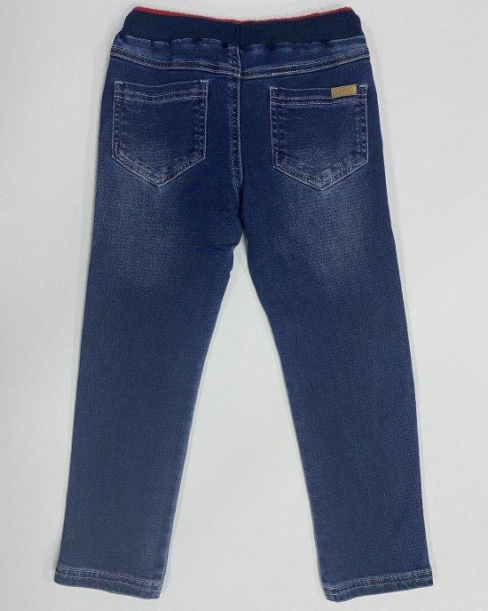 Джинсы - джоггеры синего цвета с карманами