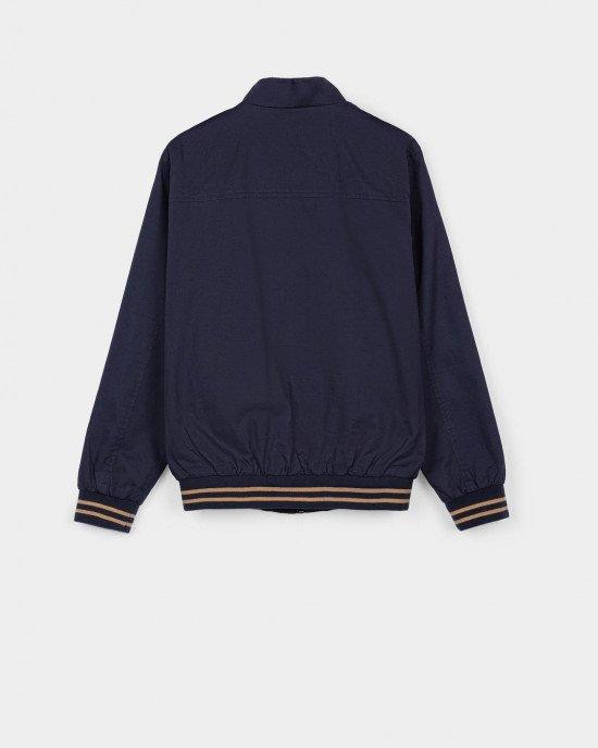 """Куртка - ветровка """"бомбер"""" синего цвета"""