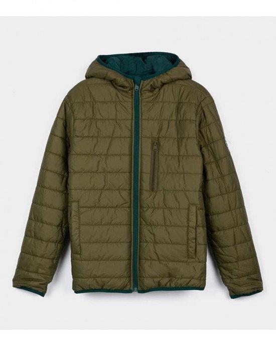 Куртка двусторонняя демисезонная зеленого цвета