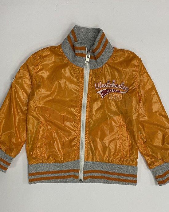 Куртка-ветровка двусторонняя с аппликацией на спине