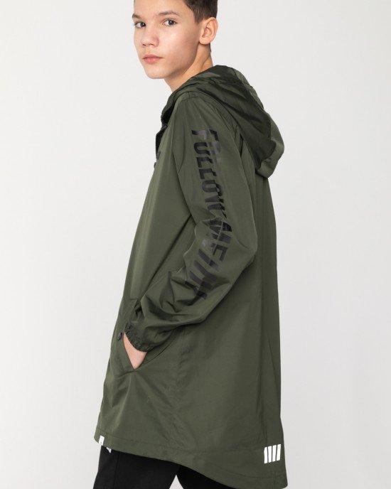 Куртка - дождевик удлиненная