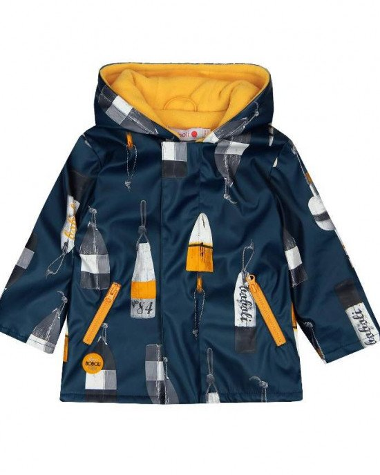 Куртка - дождевик с капюшоном и флисовой подкладкой внутри