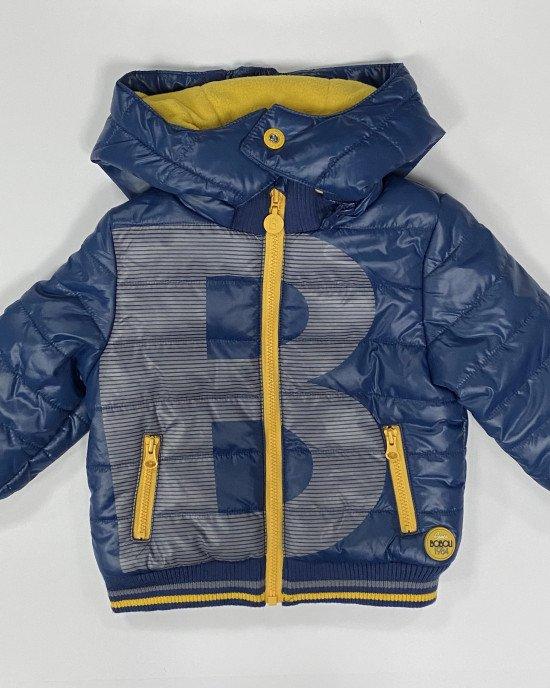 Куртка синего цвета с флисовой подкладкой