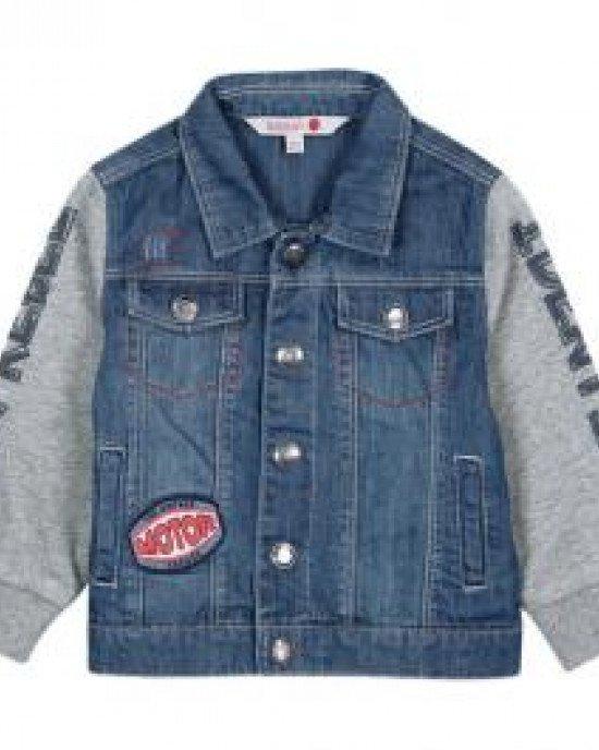 Куртка джинсовая с текстильными рукавами