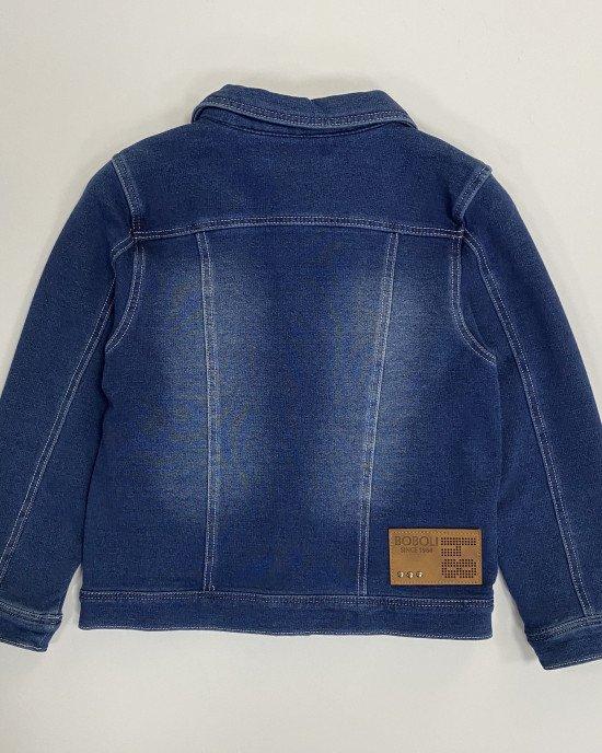 Курточка трикотажная цвета деним