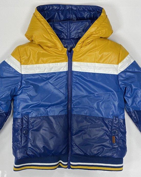 Куртка двусторонняя утепленная с капюшоном и карманами