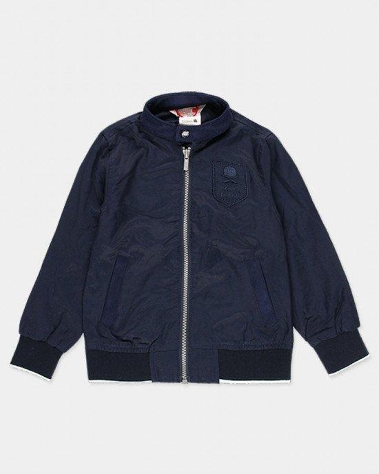 Куртка - ветровка синего цвета с логотипом