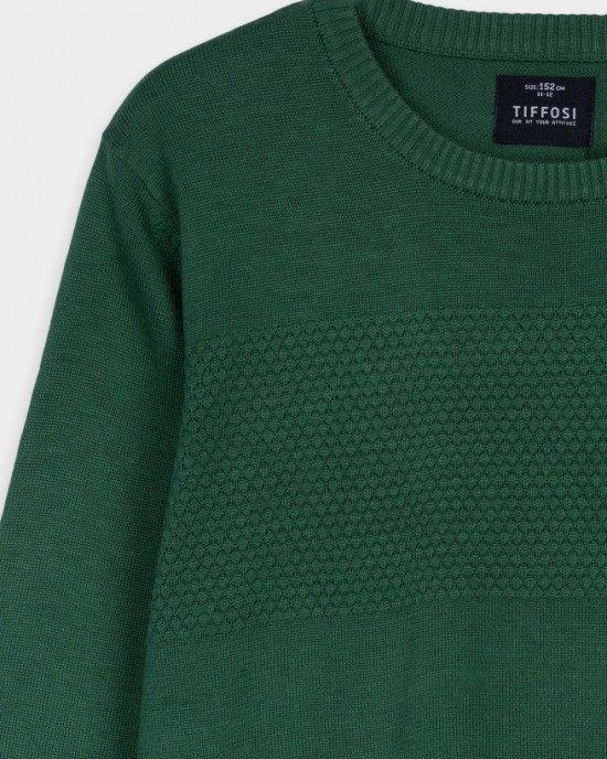 Джемпер зеленого цвета фактурной ткани