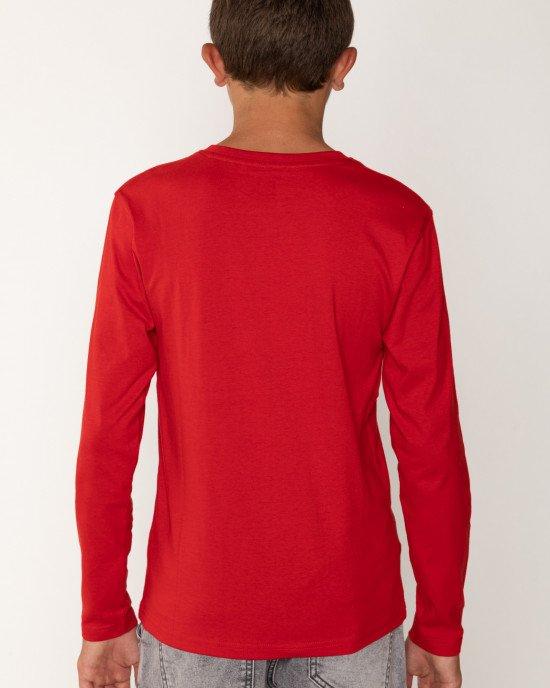 Лонгслив красного цвета с принтом