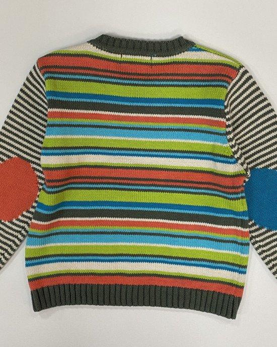 Свитер в разноцветную полосу