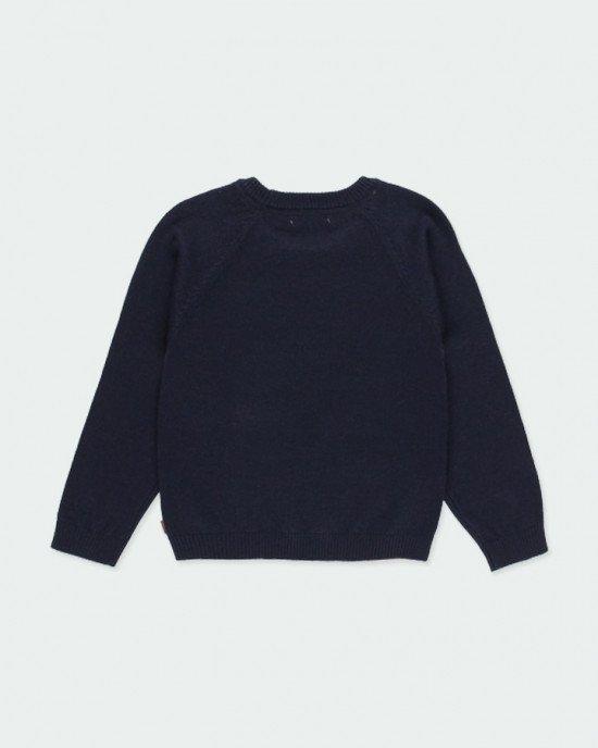 Джемпер сине-бежевого цвета с рукавами реглан