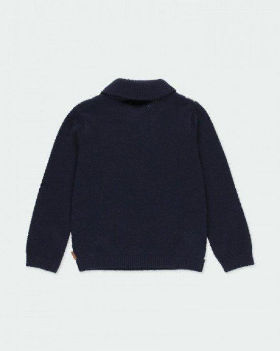 Джемпер синего цвета в геометрический принт для мальчиков