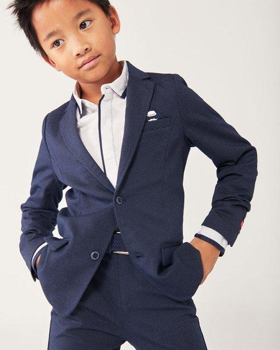 Пиджак однобортный клубный синего цвета