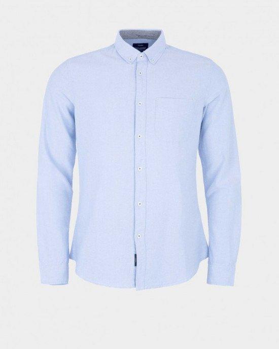 Рубашка Slim Fit голубого цвета