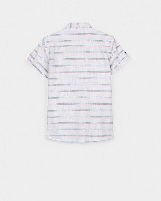 Рубашка с коротким рукавом и круглым воротником
