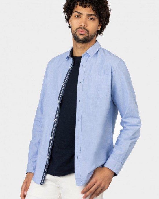 Рубашка голубого цвета Regular Fit