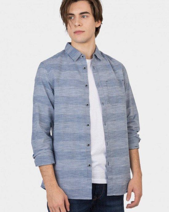 Рубашка Regular Fit серо-голубого цвета