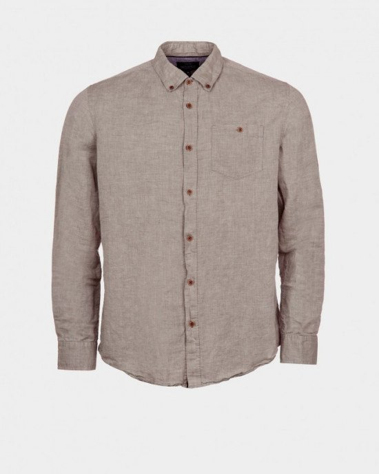 Рубашка Regular Fit бежевого цвета
