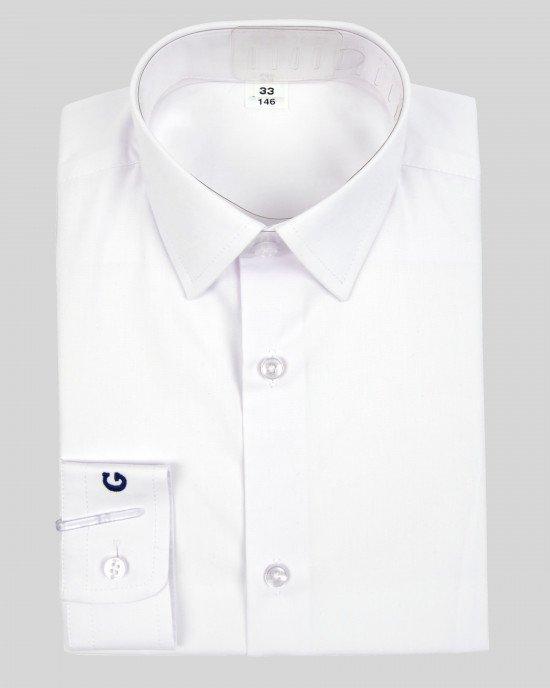 Рубашка белая с логотипом