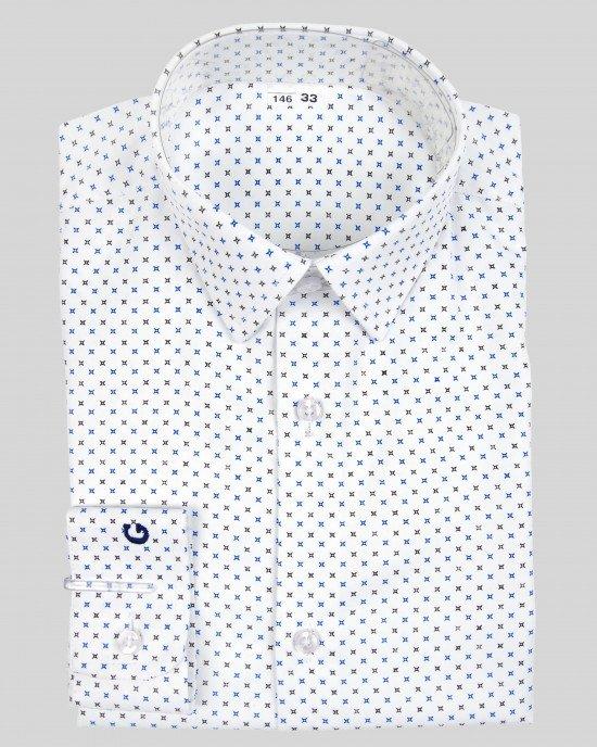 Рубашка белая в принт