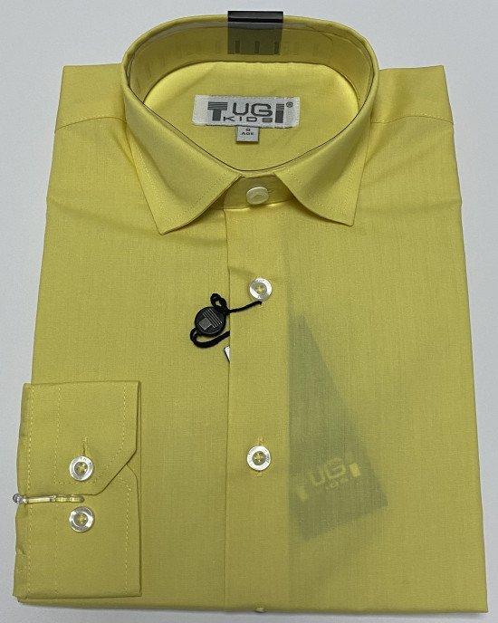 Рубашка желтого цвета с длинным рукавом
