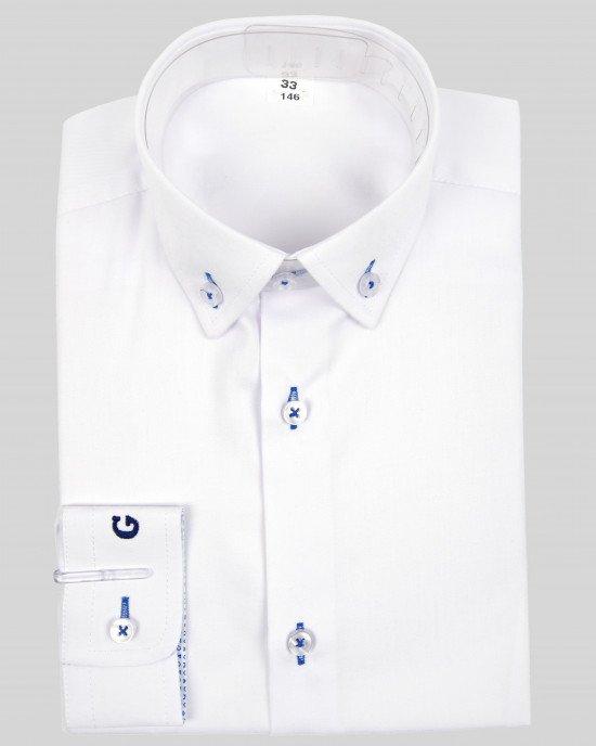 Рубашка с вышитым логотипом на манжете