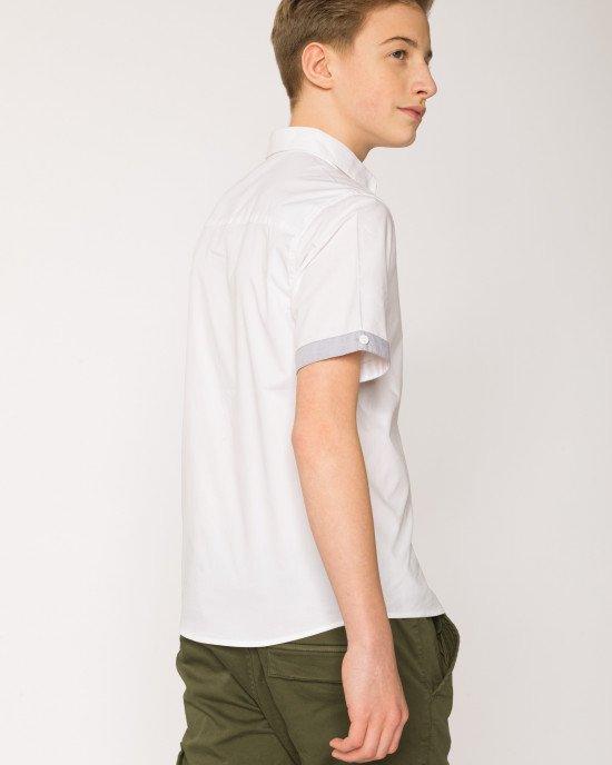 Рубашка кремового цвета с короткими рукавами