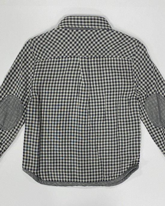 Рубашка из клетчатой двойной ткани с карманом