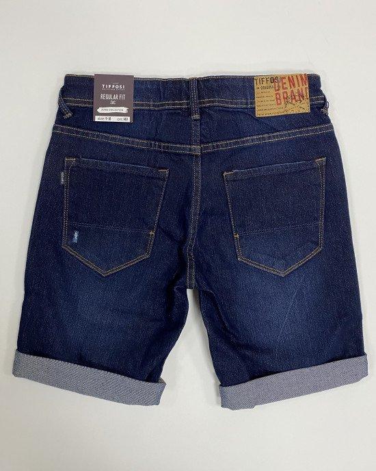 Шорты джинсовые Regular Fit темно-синего цвета