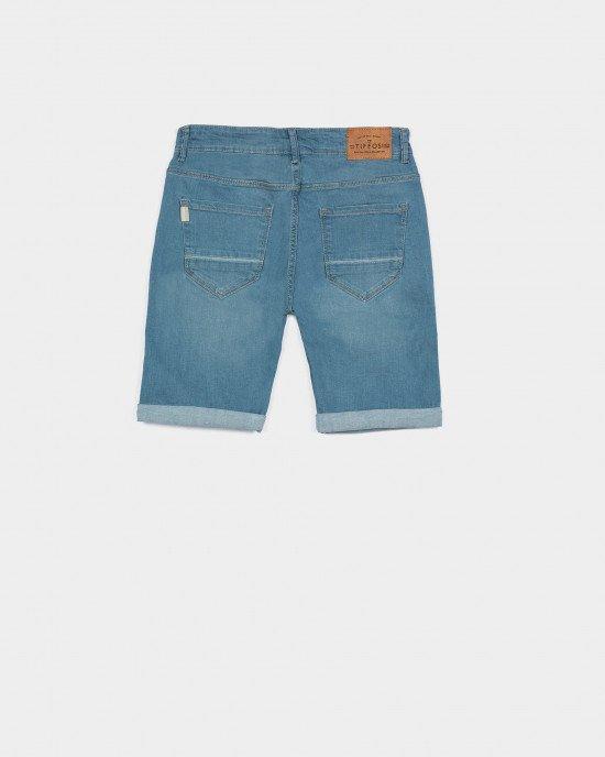 Шорты Slim Fit из джинсовой ткани голубого цвета