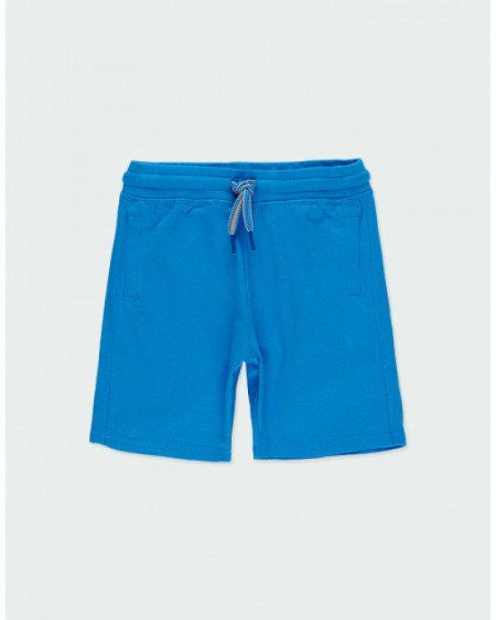 Шорты трикотажные синего цвета