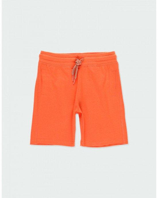 Шорты трикотажные оранжевого цвета