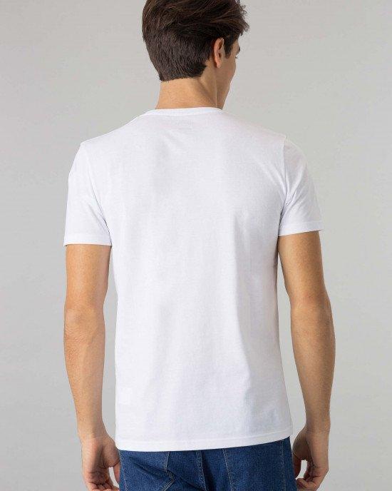 Футболка белого цвета Slim Fit