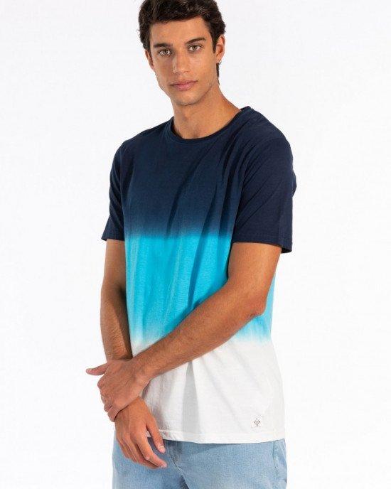 Футболка Regular Fit сине - голубого цвета