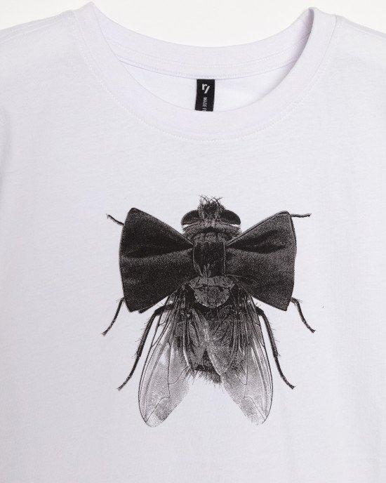 Футболка с принтом бабочка-муха