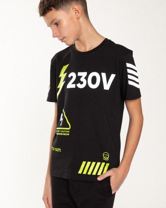 """Футболка с принтом """"230V"""""""