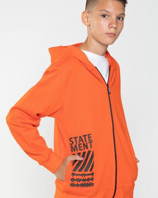 Толстовка оранжевая утепленная