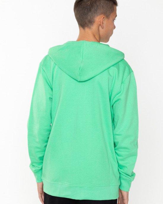 Толстовка утепленная зеленого цвета
