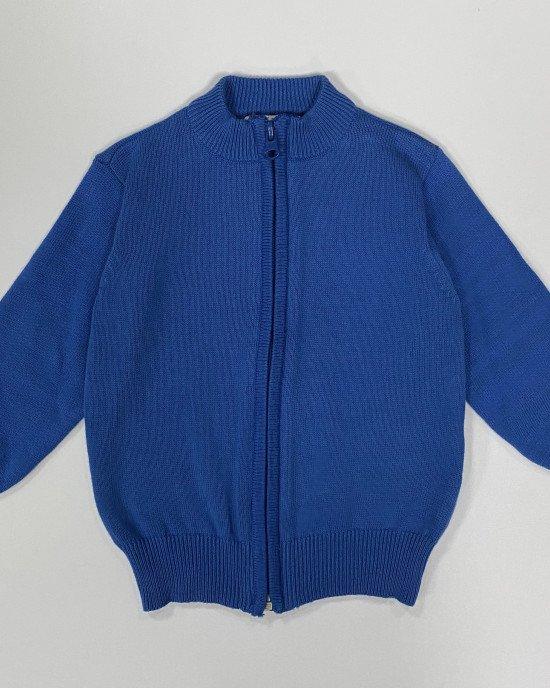 Джемпер синего цвета на замочке